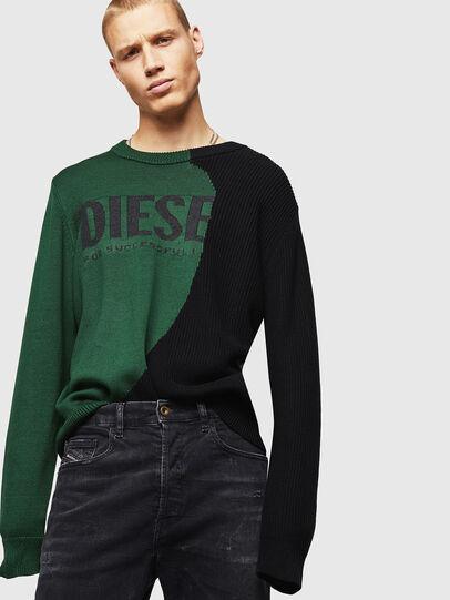 Diesel - K-HALF, Green/Black - Knitwear - Image 4