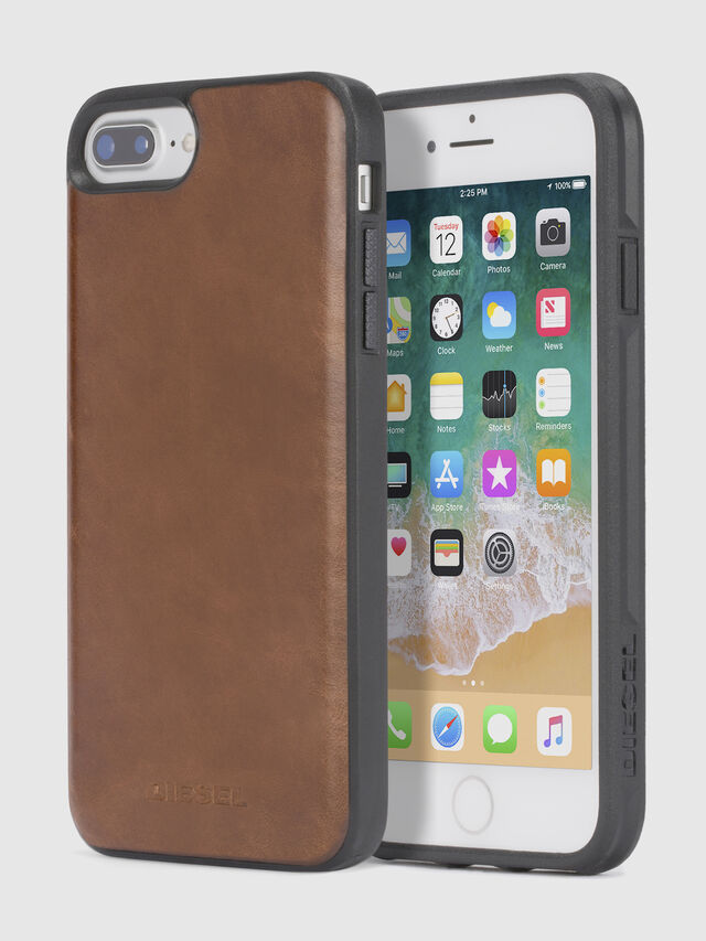 Diesel BROWN LEATHER IPHONE 8/7/6s/6 CASE, Brown Leather - Cases - Image 1
