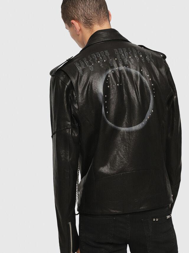 Diesel - SE-LEANDRO, Black Leather - Leather jackets - Image 2