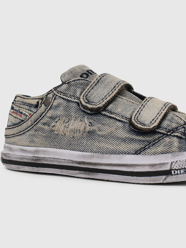 Diesel - SN LOW STRAP 11 DENI, Grey Jeans - Footwear - Image 4