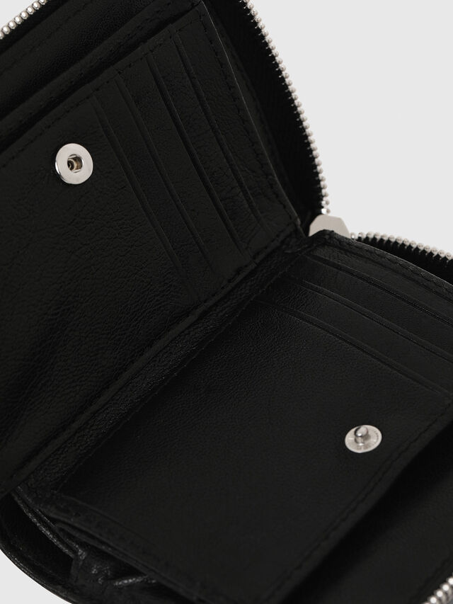 Diesel L-12ZIP, Black - Small Wallets - Image 4