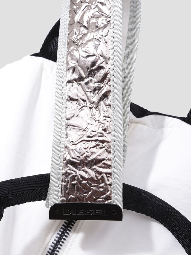 Diesel - D-CAGE SHOPPER, White/Black - Shopping and Shoulder Bags - Image 5