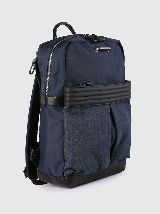 Diesel M-PROOF BACK, Blue Jeans - Backpacks - Image 3