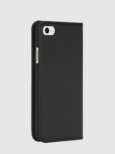 Diesel - SLIM LEATHER FOLIO IPHONE 8/7, Black - Flip covers - Image 4