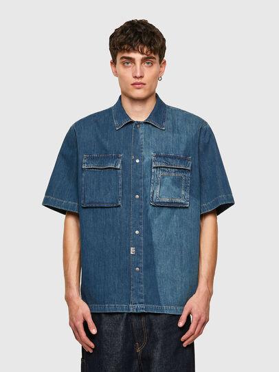 Diesel - D-GUNN-SP, Medium blue - Denim Shirts - Image 1