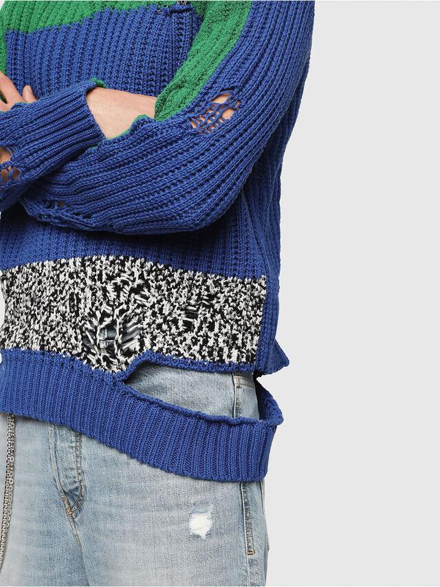 Diesel - K-DANIEL, Blue/Green - Knitwear - Image 4