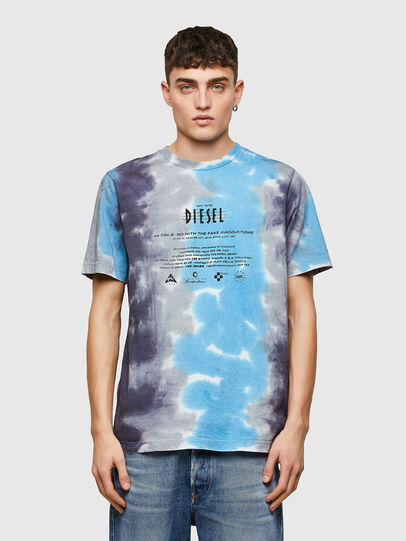 Diesel - T-JUST-E13, Grey/Blue - T-Shirts - Image 1