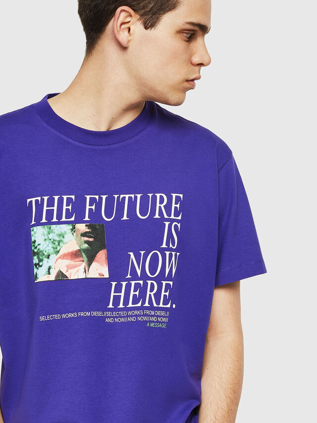 Diesel - T-WALLACE-Y5, Dark Violet - T-Shirts - Image 3