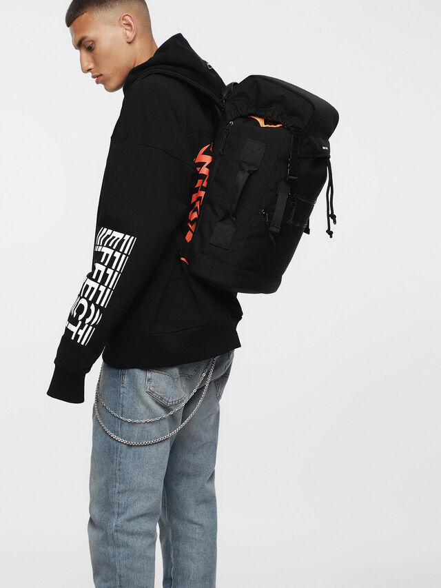 Diesel - F-URBHANITY BACK II, Opaque Black - Backpacks - Image 5