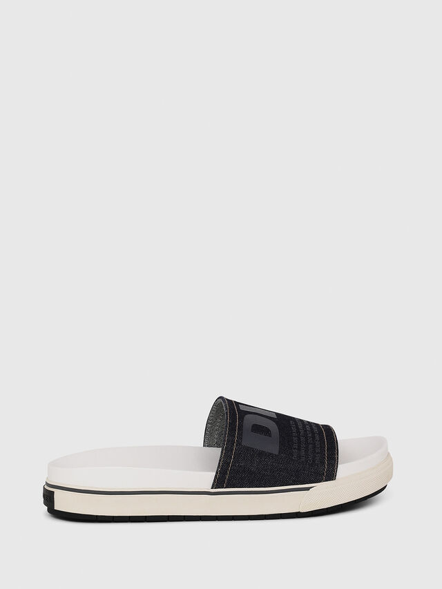 Diesel - SA-GRAND SLIDE, White/Blue - Sandals - Image 1