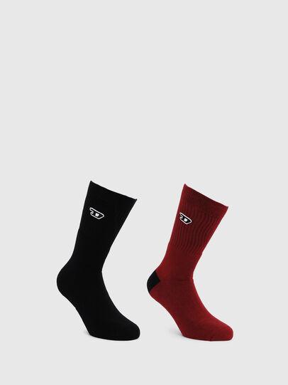 Diesel - SKM-RAY-TWOPACK, Black/Red - Socks - Image 1