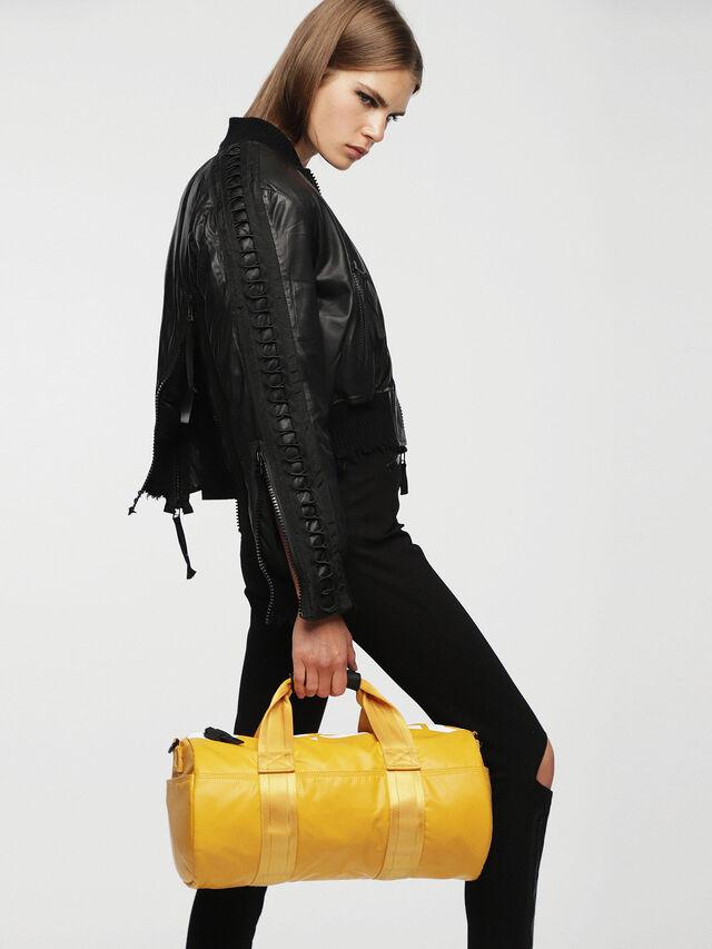Diesel - F-BOLD DUFFLE FL, Yellow Ocher - Travel Bags - Image 4