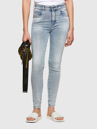 Diesel - Slandy High 009TG, Light Blue - Jeans - Image 1