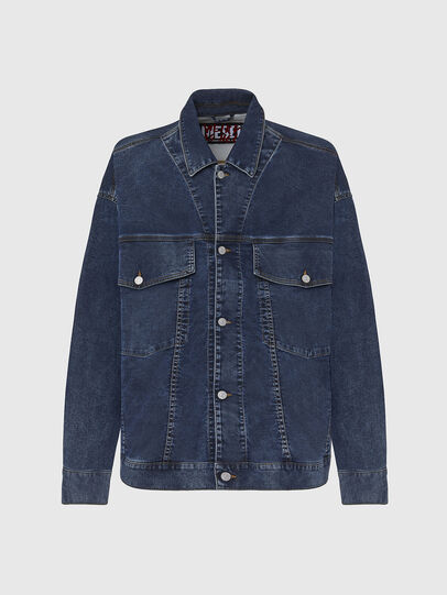 Diesel - D-RAF-SP JOGGJEANS, Dark Blue - Denim Jackets - Image 1
