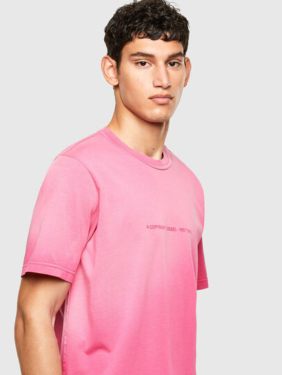 Diesel - T-JUBIND-SLITS-A1, Pink - T-Shirts - Image 3