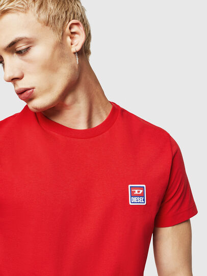 Diesel - T-DIEGO-DIV, Fire Red - T-Shirts - Image 3