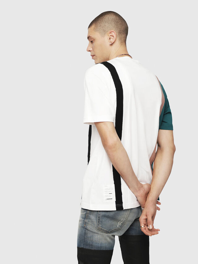 Diesel - T-JUST-SPACE-A, White - T-Shirts - Image 2