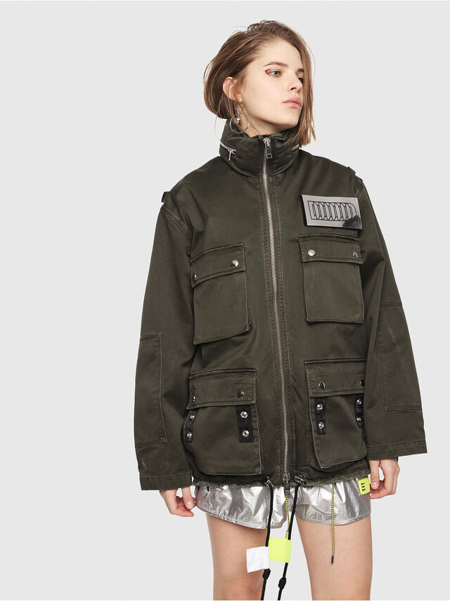Diesel - G-LEE-B, Military Green - Jackets - Image 1