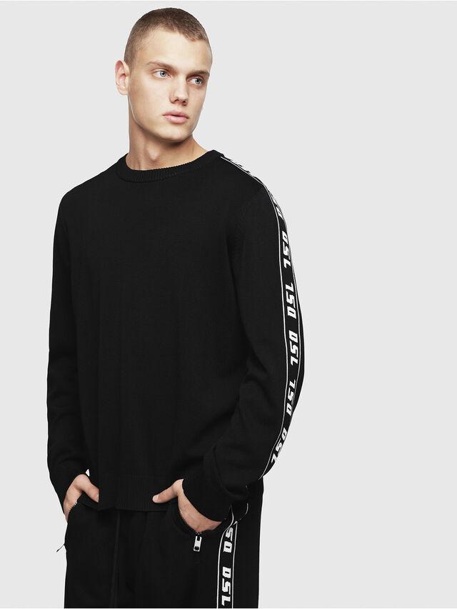 Diesel - K-TRACKY-A, Black - Knitwear - Image 1