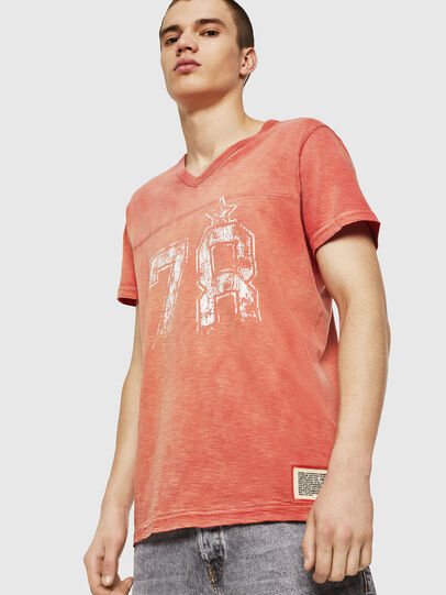 Diesel - T-DIEGO-V-CUT, Fire Red - T-Shirts - Image 1