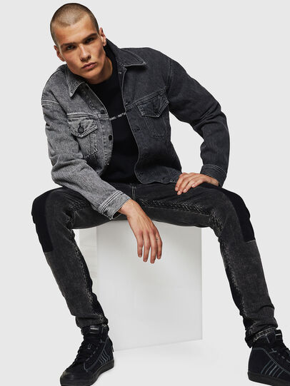 Diesel - D-POLL, Black - Denim Jackets - Image 6