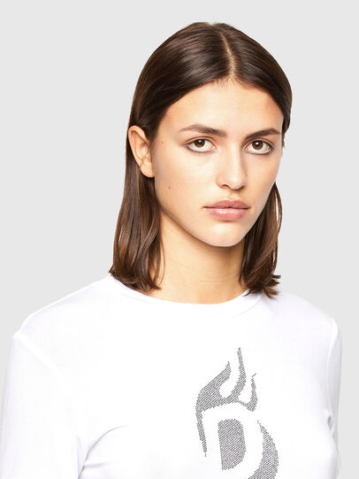 Diesel - T-SILY-R1, White - T-Shirts - Image 3