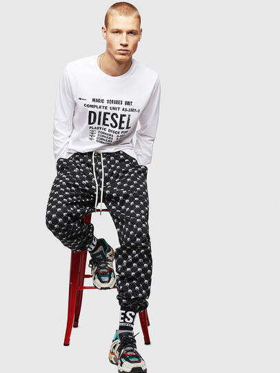 Diesel - T-DIEGO-B6-LONG, White - T-Shirts - Image 4