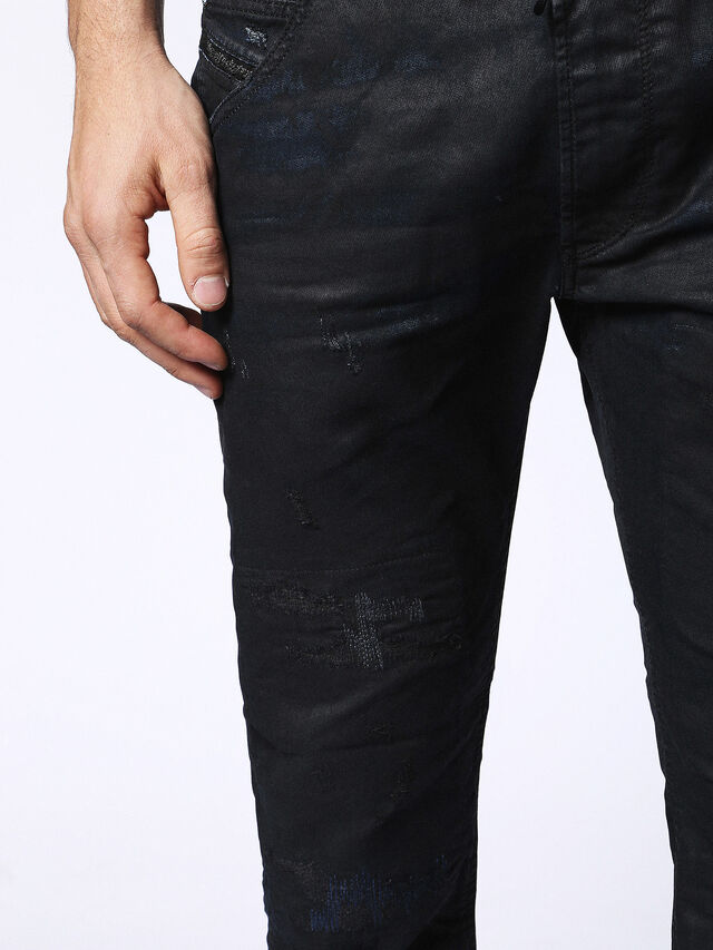 Diesel - KROOLEY CB JOGGJEANS 0680B, Black - Jeans - Image 4