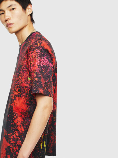 Diesel - TEORIALE-D, Black/Red - T-Shirts - Image 4