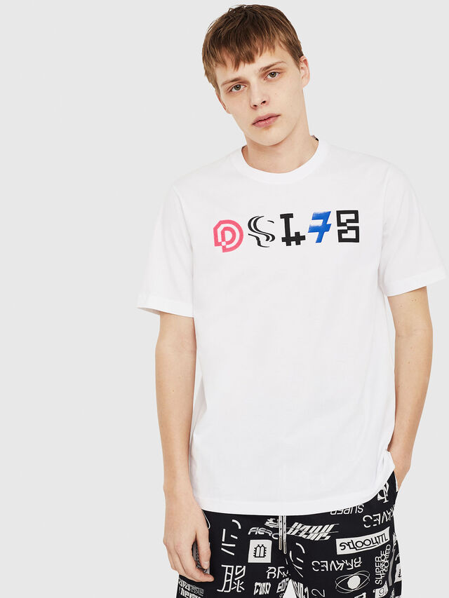 Diesel - T-JUST-Y17, White - T-Shirts - Image 1
