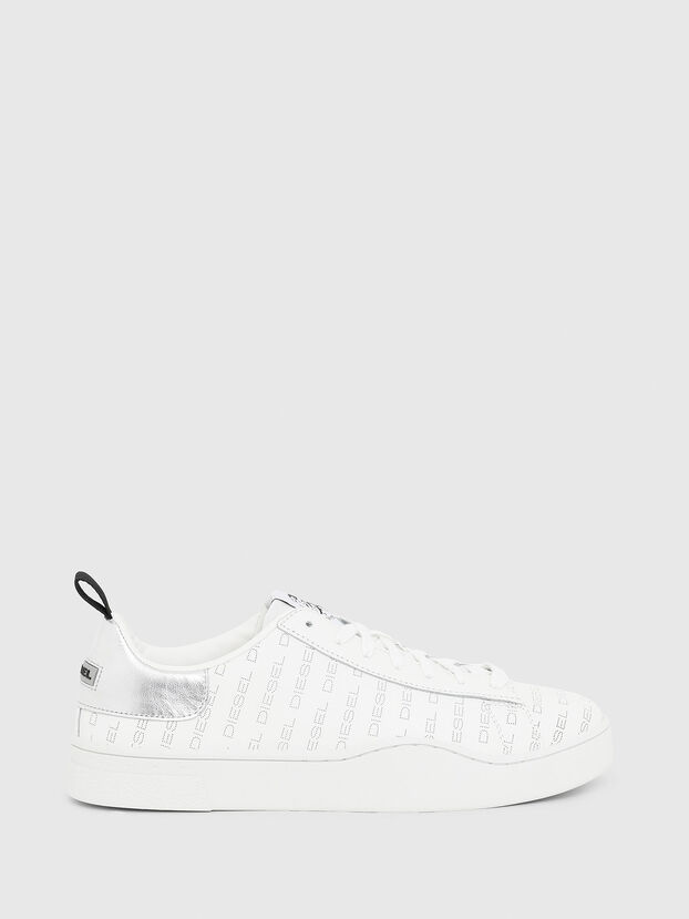S-CLEVER LOW LACE, White/Silver - Sneakers