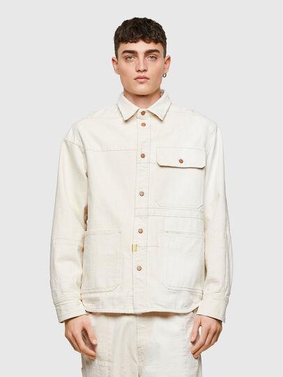 Diesel - D-HORUS-SP, White - Denim Shirts - Image 1