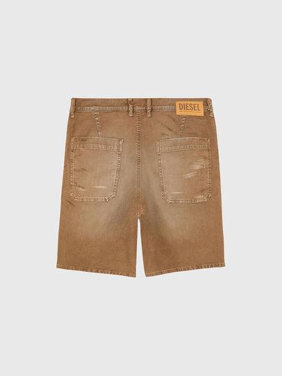 Diesel - D-AZERR-SHORT JOGGJEANS, Brown - Shorts - Image 2