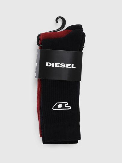 Diesel - SKM-RAY-TWOPACK, Black/Red - Socks - Image 2