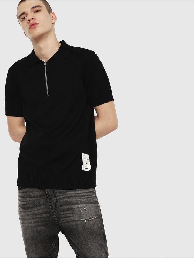 Diesel - K-MYX, Black - Knitwear - Image 1