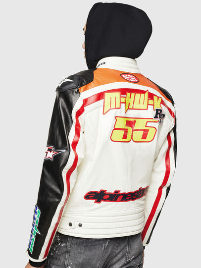 Diesel - ASTARS-LPATCH-1A, White - Leather jackets - Image 2