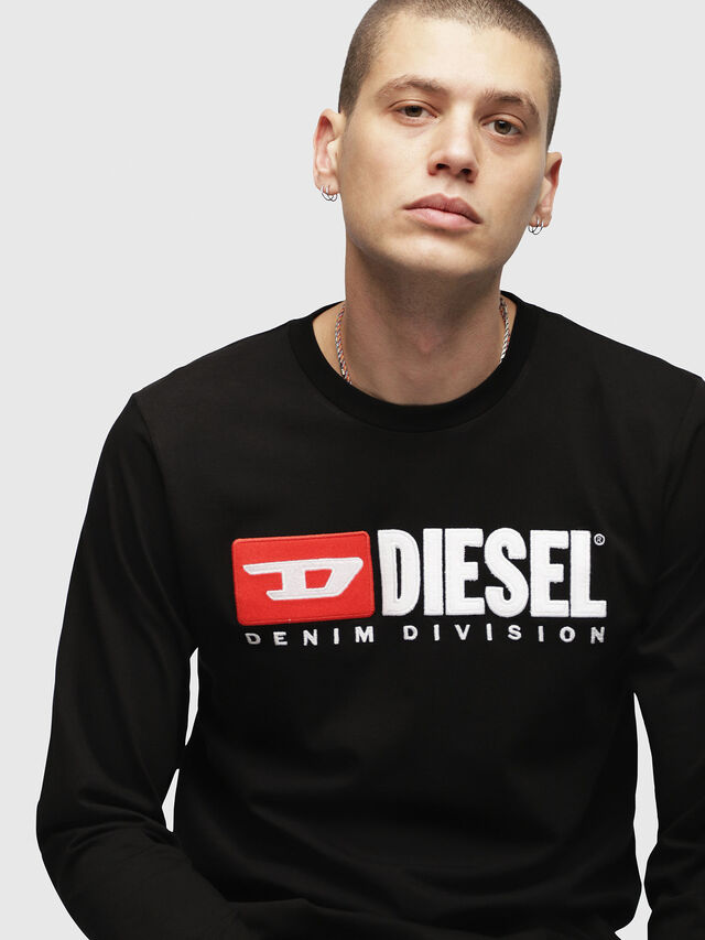 Diesel - T-JUST-LS-DIVISION, Black - T-Shirts - Image 3