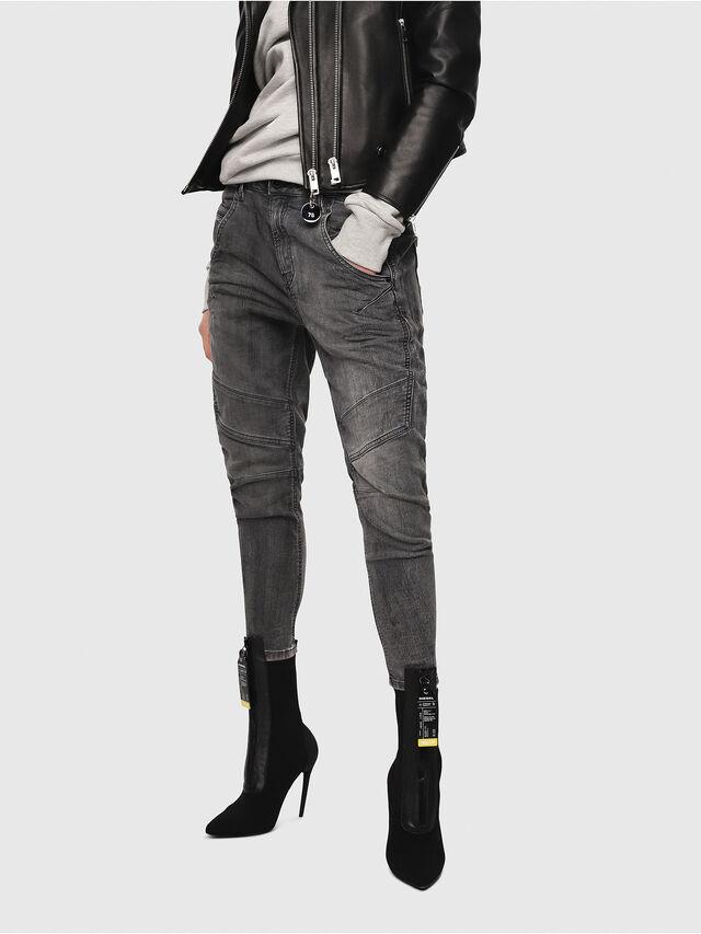 Diesel - Fayza JoggJeans 8880U, Black/Dark grey - Jeans - Image 1