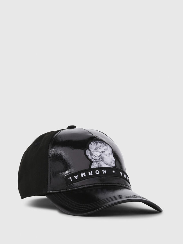Diesel - C-VENU, Black Leather - Caps - Image 1