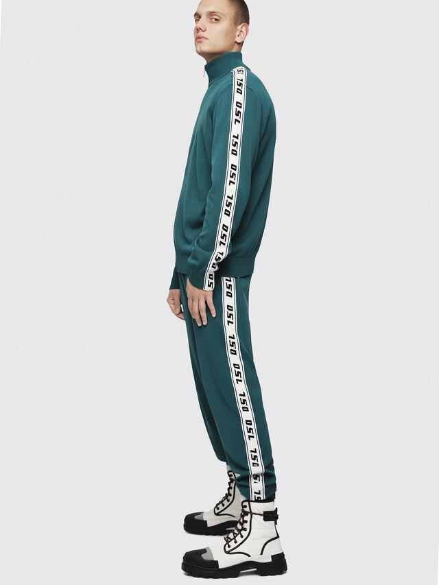 Diesel - K-KER-A, Dark Green - Knitwear - Image 5