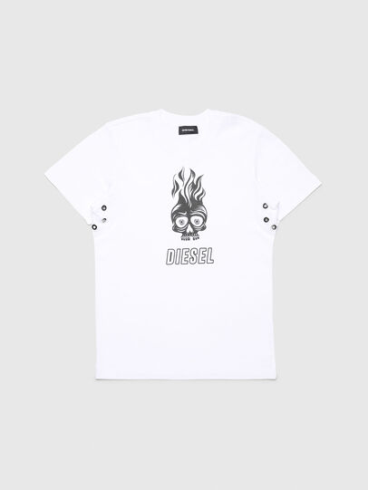 Diesel - TUSILYWQ, White - T-shirts and Tops - Image 1