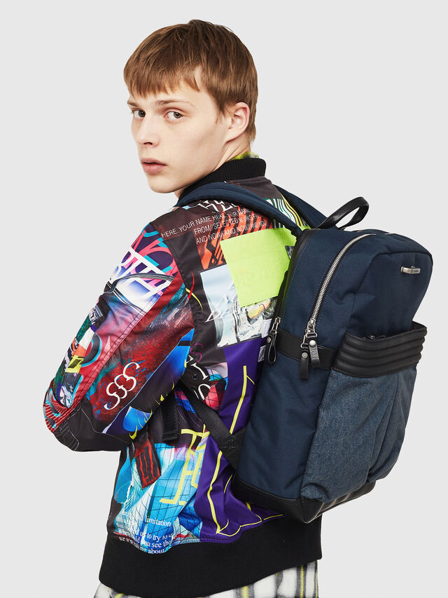 Diesel M-PROOF BACK, Blue Jeans - Backpacks - Image 6