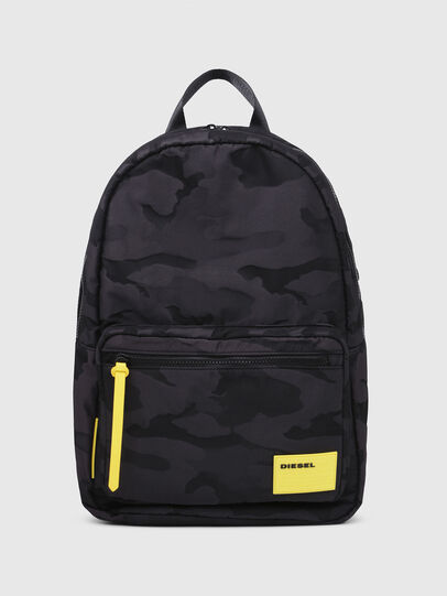 Diesel - F-DISCOVER BACK, Black/Yellow - Backpacks - Image 1
