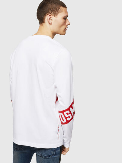 Diesel - T-JUST-LS-STAR, White - T-Shirts - Image 2