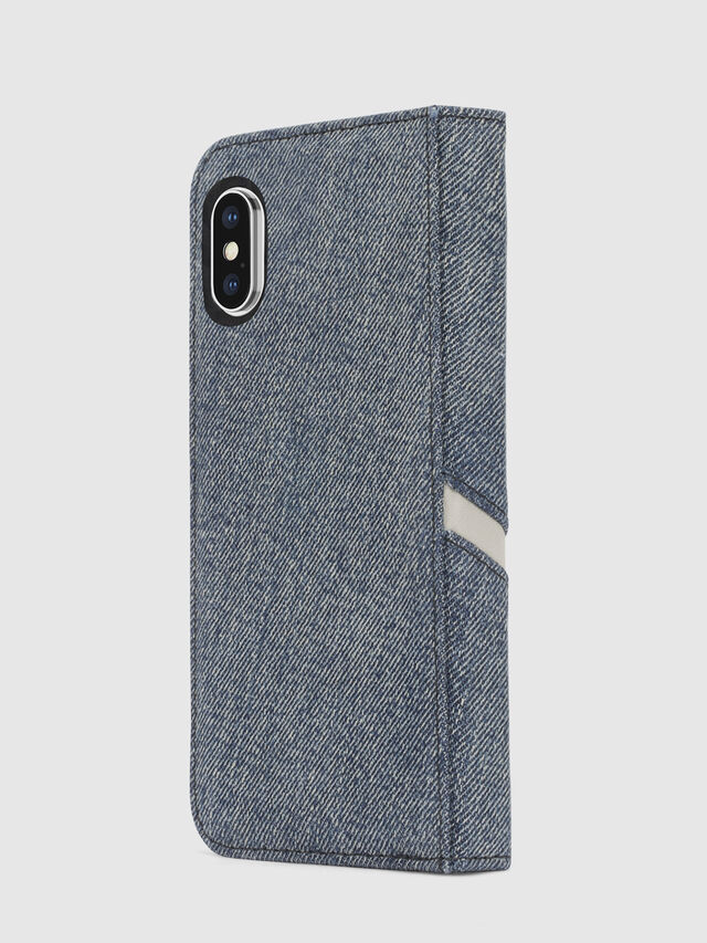 Diesel - DENIM IPHONE X FOLIO, Blue Jeans - Flip covers - Image 5