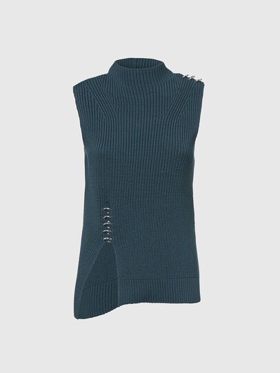Diesel - M-ESSIE, Water Green - Knitwear - Image 1