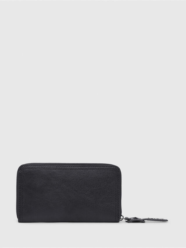 Diesel - GRANATO, Black/Grey - Zip-Round Wallets - Image 2