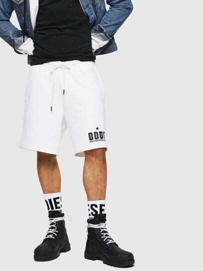 Diesel - P-ALF-SHORT, White - Shorts - Image 1