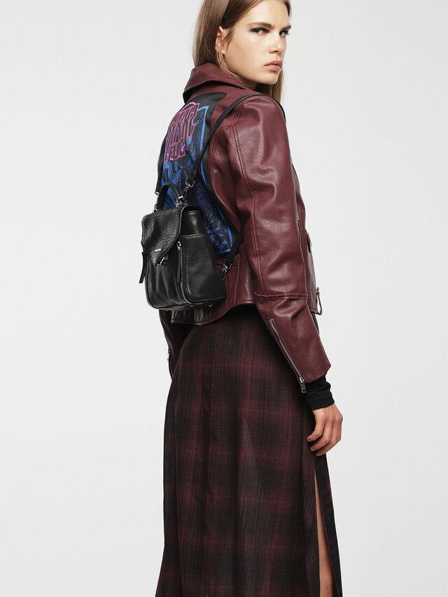 Diesel - LE-KIIMY II, Black Leather - Backpacks - Image 5