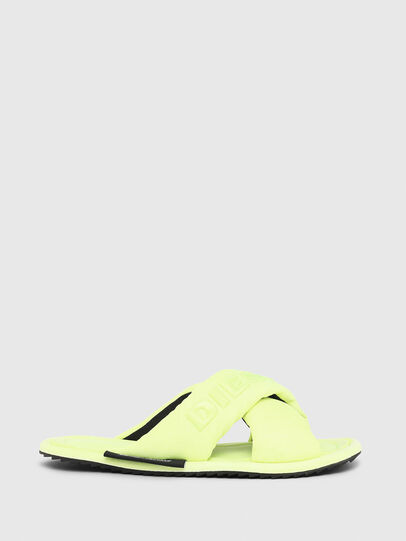 Diesel - SA-MERY X, Yellow Fluo - Slippers - Image 1